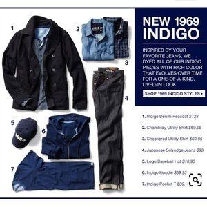 Gap mens 1969 classic indigo peacoat